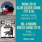 Route 66 Klub Sieger and Breed Show, SE and ADRK BSE offered @ Pontiac IL
